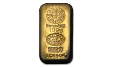 Argor-Heraeus Gold Cast Bar 100 gram